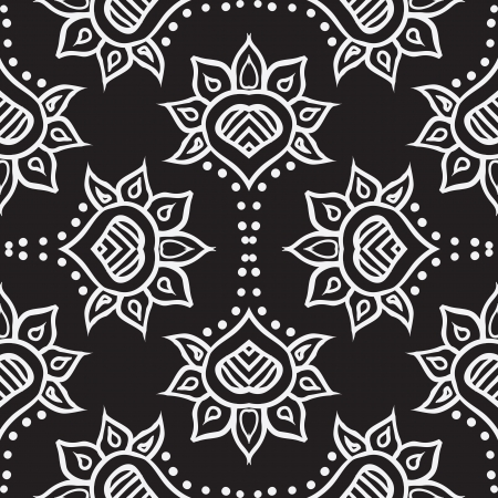 hand drawn moroccan seamless fabric design
