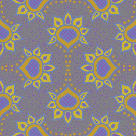 hand drawn moroccan seamless fabric design Stock Vector - 17201047