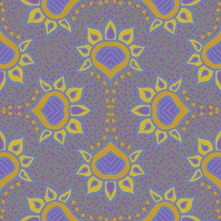 hand drawn moroccan seamless fabric design Stock Vector - 17201047