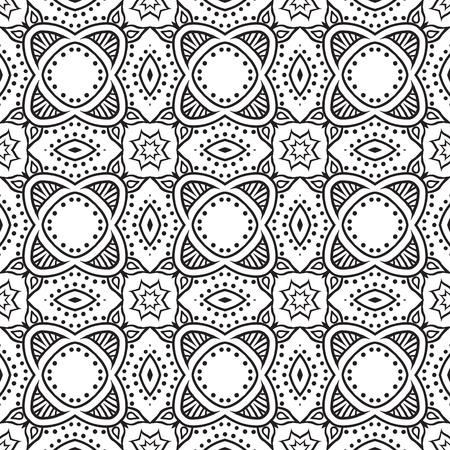 Naadloze: grafische bloemen gedetailleerde naadloze patroon