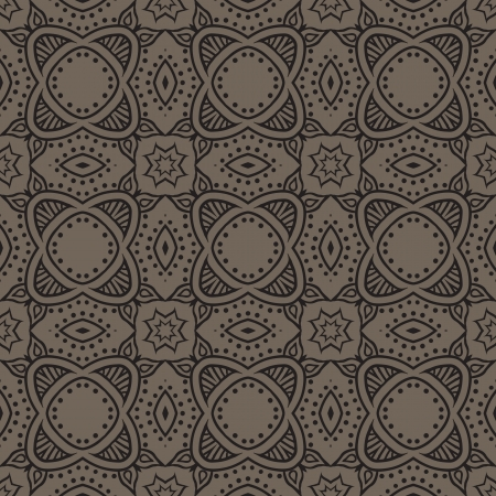 graphic floral detailed seamless pattern Stock Vector - 17201046