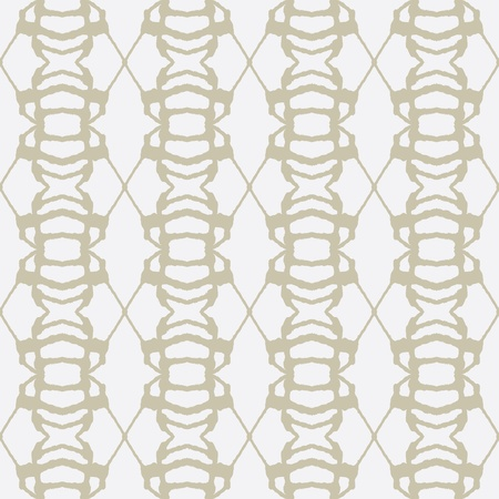 golden ink lines on white, seamless pattern Vector