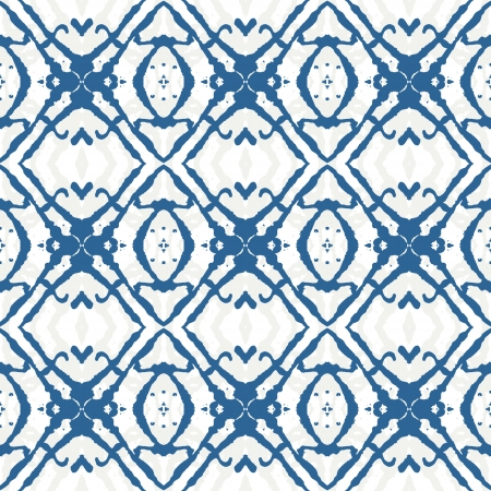 bold: bold geometric ornament in blue Illustration