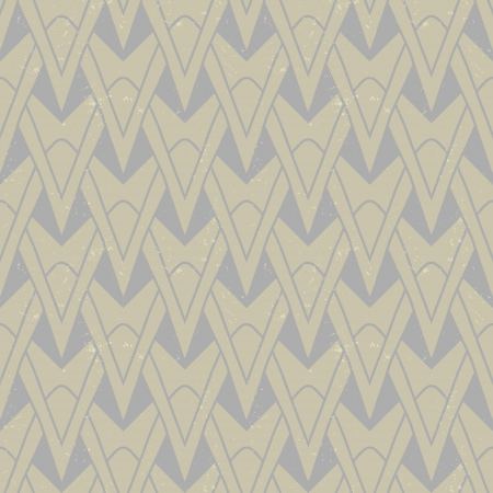 organic geometric art deco pattern in beige colors, seamless vector background on paper texture  for print, textile, wallpaper Vector