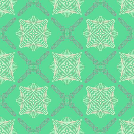 pattern in emerald green, delicate elegant lines Vettoriali