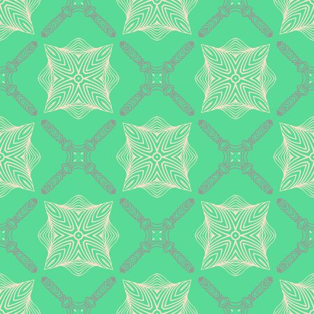pattern in emerald green, delicate elegant lines Vector
