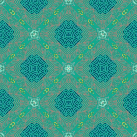 floral geometric pattern, contemporary style Vector
