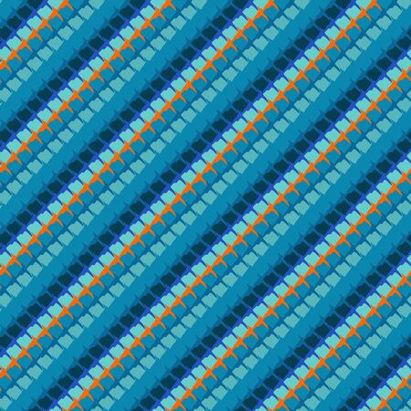 hand woven: geometric linear stiched pattern Illustration