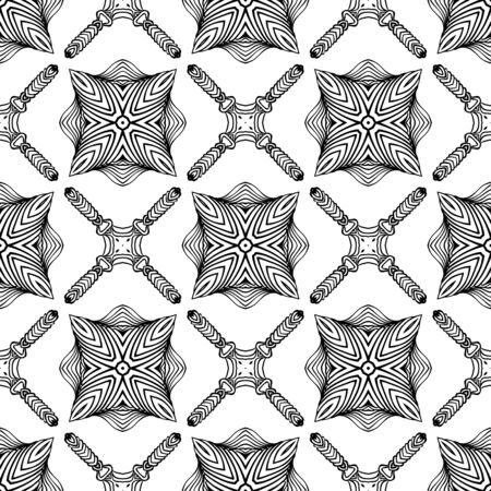 linear art deco black and white pattern