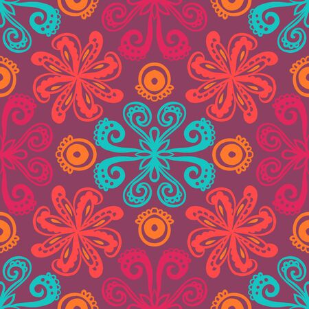 mexican background: Indian floral pattern