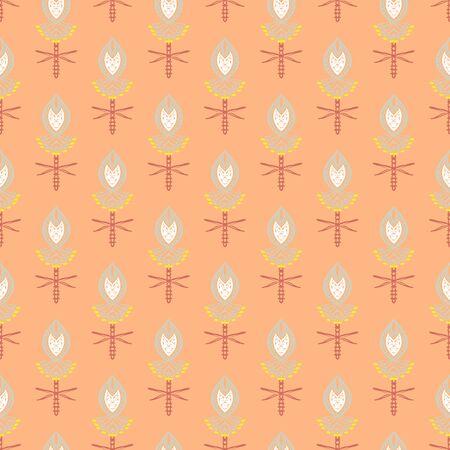 Pattern with bold stylized Indian motifs photo