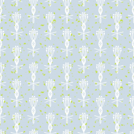 ornamented: Hand drawn modern floral ornamented seamless pattern in white and gray with stylized flowers  Texture for web, print, decor, textile, wrapping paper, wedding invitation background, summer fall fashion