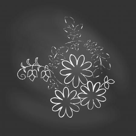 Vector illustration of flower on chalkboard Stock Vector - 19201093