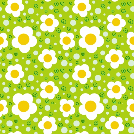 ornamented: Simple floral ornamented seamless pattern with bold and stylized flowers  Texture background for web, print, home decor, textile, wrapping paper, wallpaper, organic products, children room decor