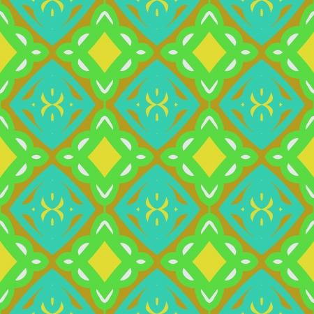 Pattern with bold stylized Indian motifs Illustration