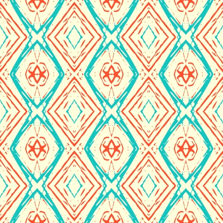 grunge background: Ikat pattern Stock Photo