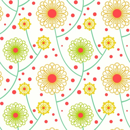 simple: Simple floral pattern with bold flowers