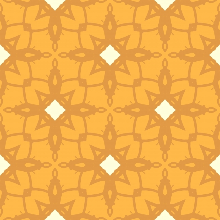 ornamented: Floral ornamented pattern with geometric motifs Illustration
