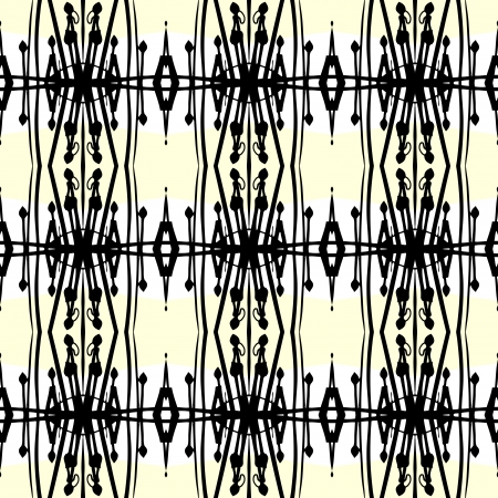 Geometric art deco pattern with thick black lines Vector