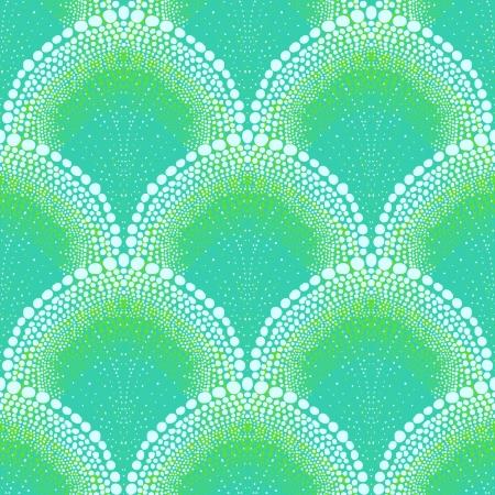 small scale: Bold pattern in art deco style in aqua blue