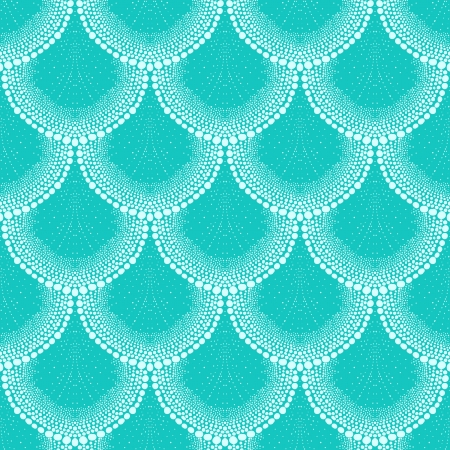 bohemian: Pattern in art deco style in tropical aqua blue Illustration