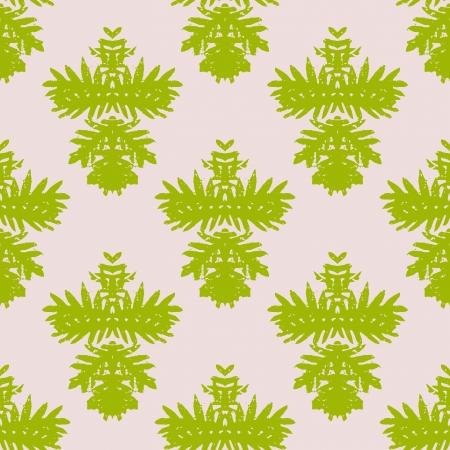 simple: Simple, elegant block printed vector pattern