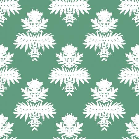 printing block: Simple, elegant block printed vector pattern