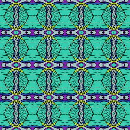 Rich, elegant linear seamless vector pattern