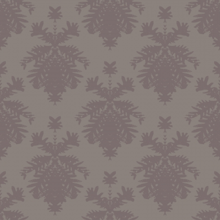 Simple, elegant block printed seamless vector pattern with damask motifs. Texture for web, print, wallpaper, home decor, summer fall fashion textile, fabric, website or wedding invitation background Vector