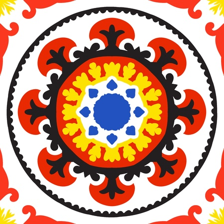 circle pattern: Suzani pattern Illustration