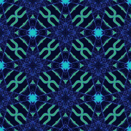 dark fiber: Pattern with bold flourishing stylized ornaments