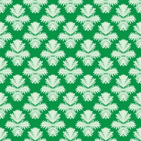 Simple, elegant vector pattern in jade green