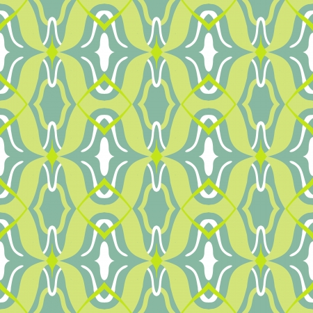 Vector Arabic pattern in lime and jade green Vector