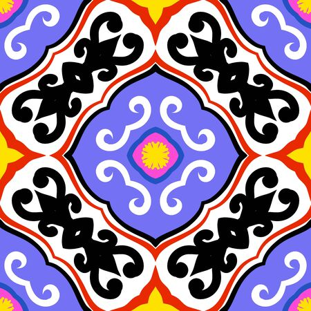 Suzani, vector pattern with bold ornament Vector
