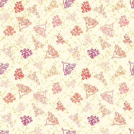Nautical pattern with corals on sandy beach  photo