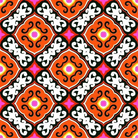 Suzani, vector pattern with bold ornament