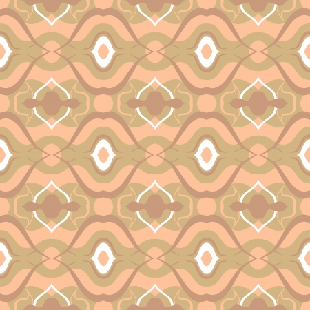 Seamless pattern with Arabic motif in soft beige  photo
