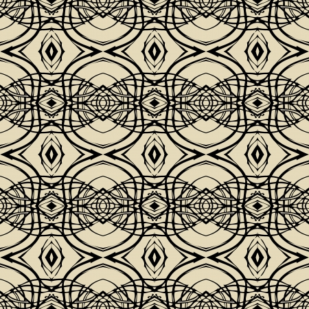 Pattern with thin black lines in art deco style Stock Photo