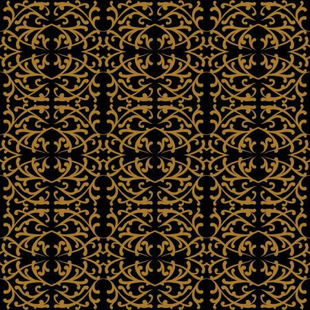 gold fabric: Linear pattern in baroque and rococo style