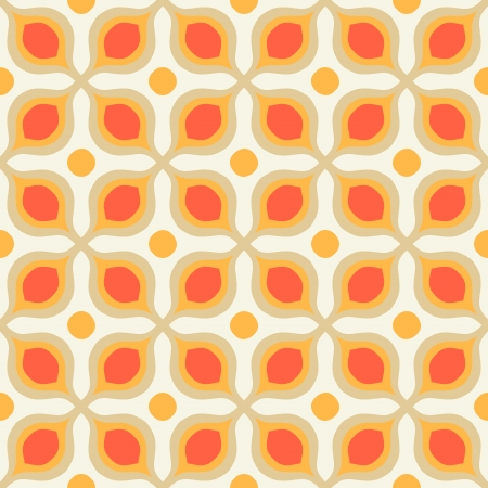 60s: Pattern with bold geometric shapes in 1970s style Stock Photo