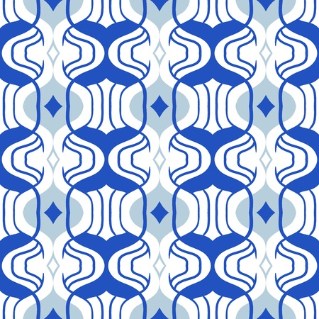 simple: Simple Moroccan pattern in blue and white