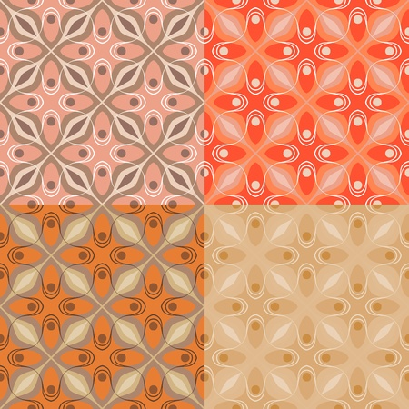 style: Pattern with bold geometric shapes in 1970s style Stock Photo