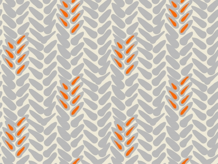 銀とオレンジ色の広い筆を持つ単純な大胆なベクトル パターン。テクスチャのための web、印刷、壁紙、流行に敏感なスタイルで秋のファッション、 写真素材
