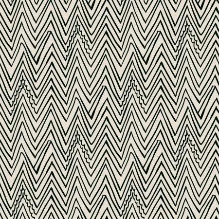 Simple, elegant linear seamless vector pattern with zigzag lines in black and white  Texture in hipster style for web, print, wallpaper, fall fashion fabric, textile, website or invitation background Stock Photo