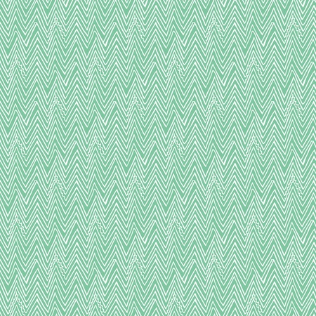 Simple, elegant linear seamless vector pattern with zigzag line in tropical aqua blue  Texture in hipster style for web, print, spring fashion fabric, textile, website or wedding invitation background Banco de Imagens