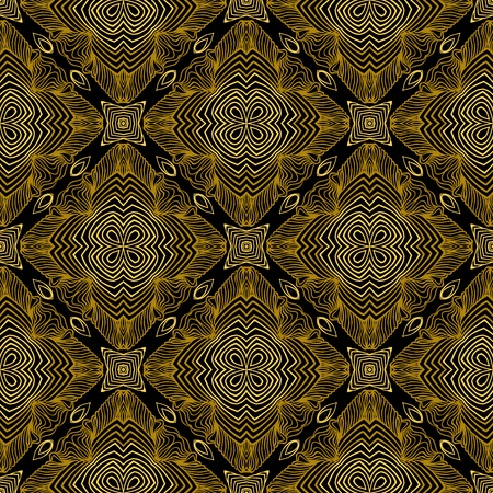 style: Linear pattern in art deco style in old gold