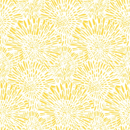 Hand drawn vintage floral pattern with dandelions or asters. Seamless vector texture for web, print, wallpaper, spring summer fashion, wedding invitation card , fabric, textile, gift paper Ilustracja