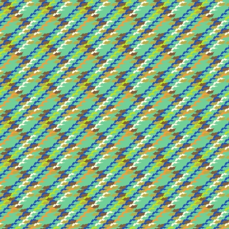 version: Vector multicolor modern version of houndstooth. Seamless texture in bright colors for web, print, website background, invitation card, summer fall fashion, textile, fabric, home decor, wallpaper. Illustration