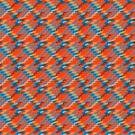 Vector multicolor modern version of houndstooth. Seamless texture in bright colors for web, print, website background, invitation card, summer fall fashion, textile, fabric, home decor, wallpaper. Illustration