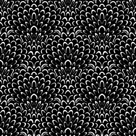 piuma bianca: Art deco vettore motivo floreale in bianco e nero. Senza soluzione di tessitura per il web, stampa, carta da parati, regalo di Natale da imballaggio, decorazioni per la casa, moda inverno, invito a nozze sfondo, design tessile